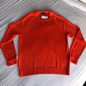 Banana republic orange cotton crew neck sweater